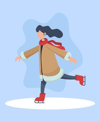 Leute-Eislauf-Illustration vektor