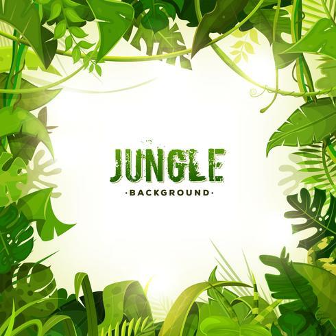 djungel tropisk dekoration bakgrund vektor