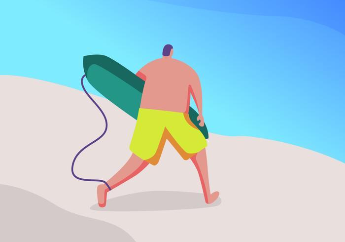 Awesome Beach Aktiviteter vektorer