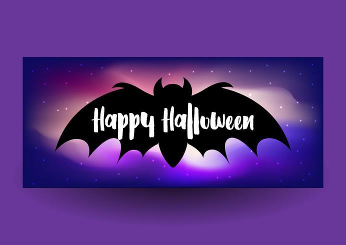Halloween-Fahnendesign vektor