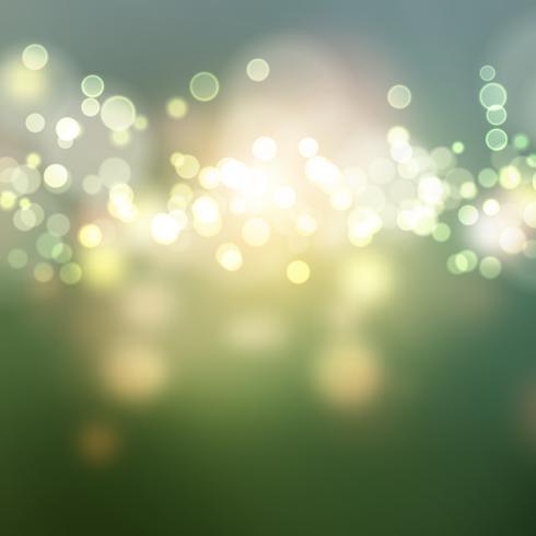 Grünes Bokeh beleuchtet Hintergrund vektor