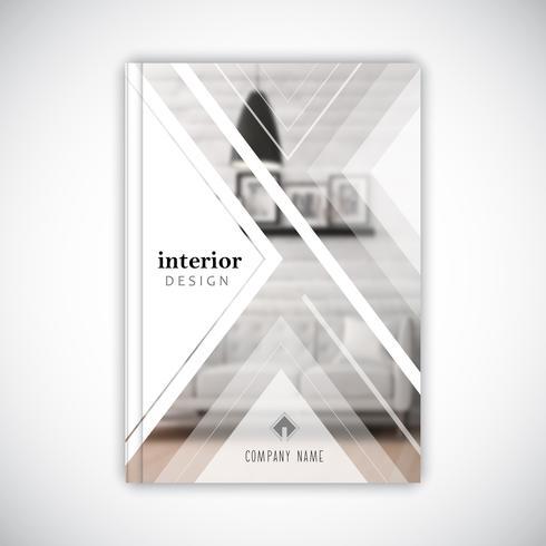 Entwurfsvorlage für eine Broschüre zur Innenarchitektur vektor