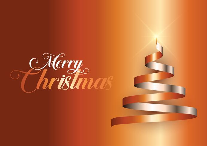 Ribbon Weihnachtsbaum Hintergrund vektor