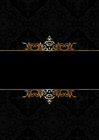 Dekorativer eleganter Hintergrund im Schwarzen und im Gold vektor