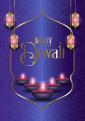 Dekorativ bakgrund för Diwali vektor