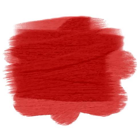 Röd grunge målade konsistens vektor