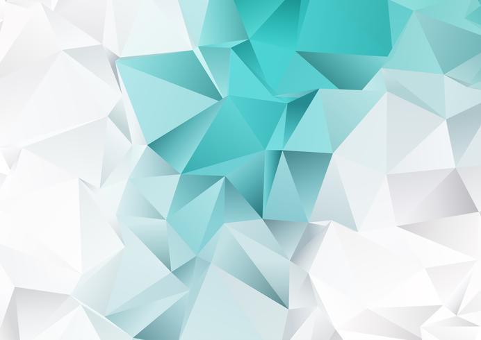 Låg poly design med teal och silverfärger vektor