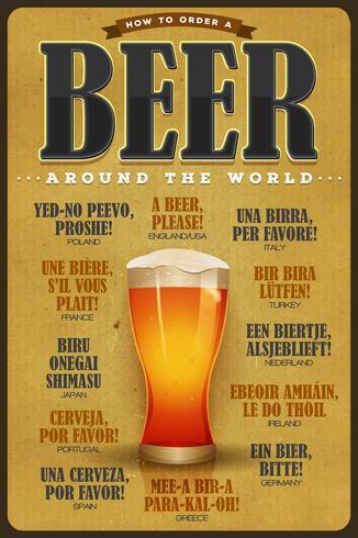 Wie man ein Bier auf der ganzen Welt bestellt vektor