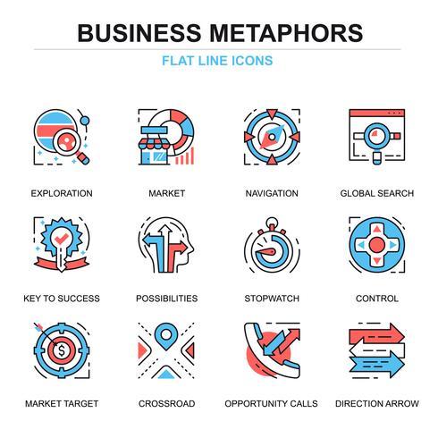 Geschäftsprozess-Icon-Set vektor