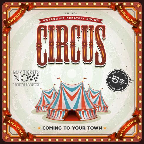 grunge kvadrera cirkusaffischen vektor