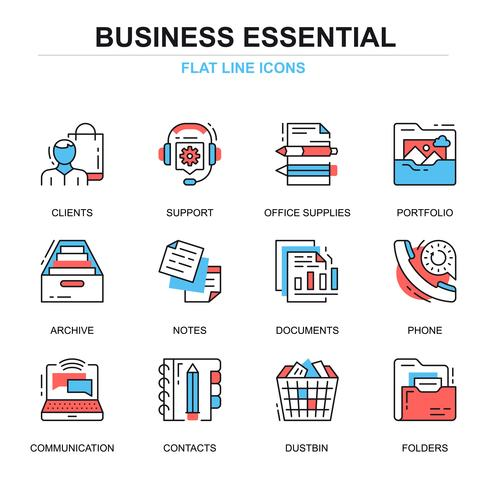 Business Essential-Icon-Sets vektor