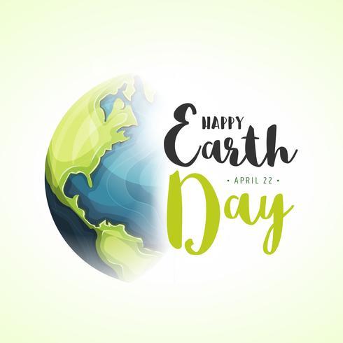 Welttag der Erde Tag vektor