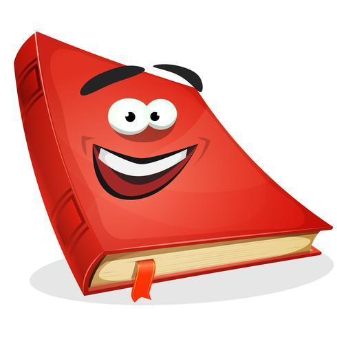 röd bok karaktär vektor