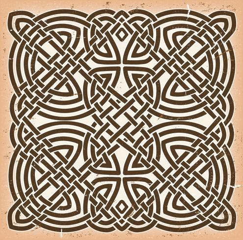Weinlese Grunge keltischer Mandala-Hintergrund vektor