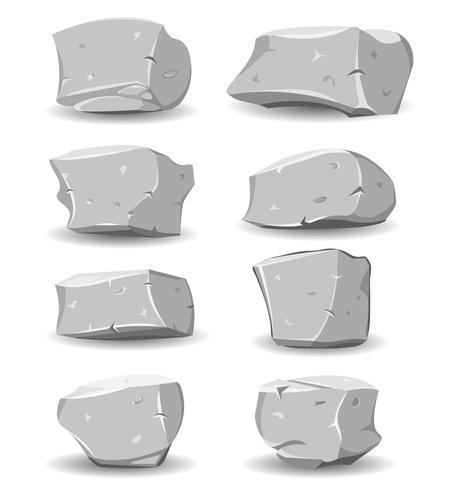 Felsbrocken und Felsen eingestellt vektor