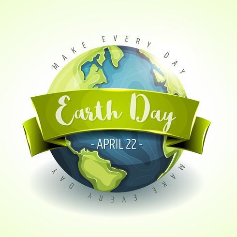 Glückliche Tag der Erde-Banner vektor