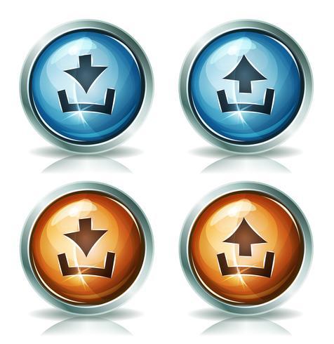 Hämta och ladda upp webb ikoner vektor