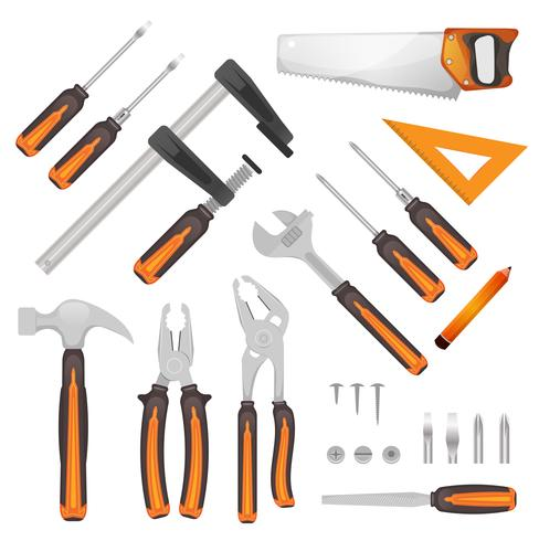 diy Werkzeuge eingestellt vektor