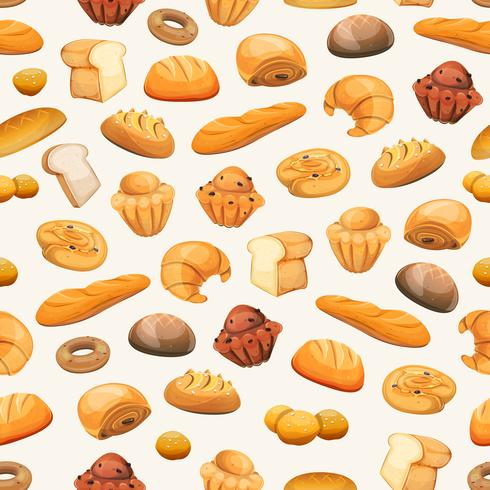 Nahtloser Bäckerei-Ikonen-Hintergrund vektor