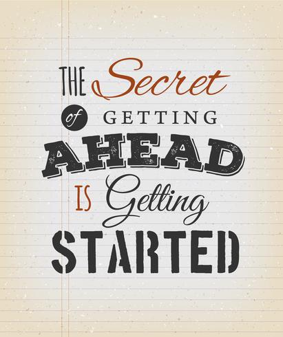 Inspirerande Motivation Citat På Vintage Bakgrund vektor