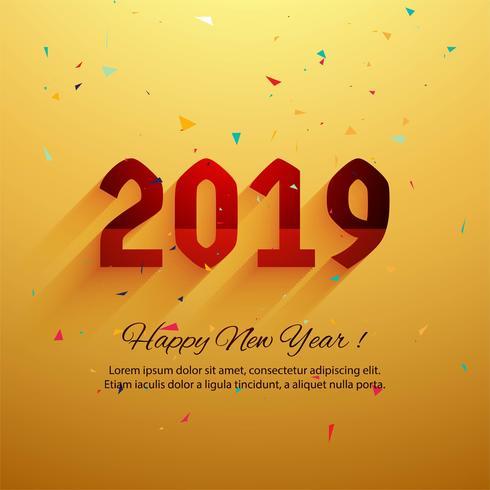 Schöner Texthintergrund des guten Rutsch ins Neue Jahr 2019 vektor
