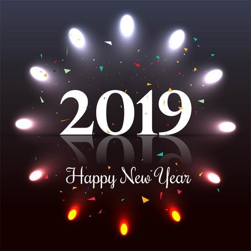 Schöner guten Rutsch ins Neue Jahr-Textfestivalhintergrund 2019 vektor