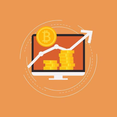 Bitcoin-Konzeptvektorabbildung vektor