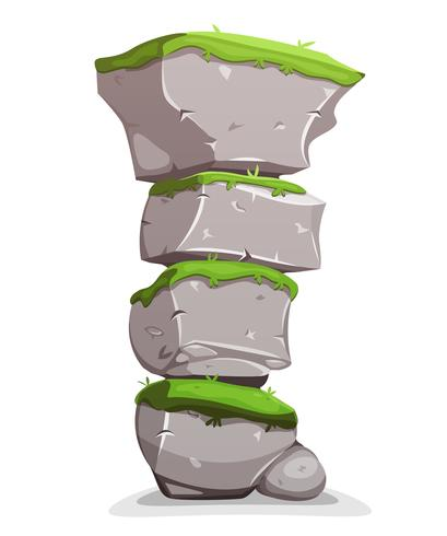 Boulders Stack mit Gras vektor