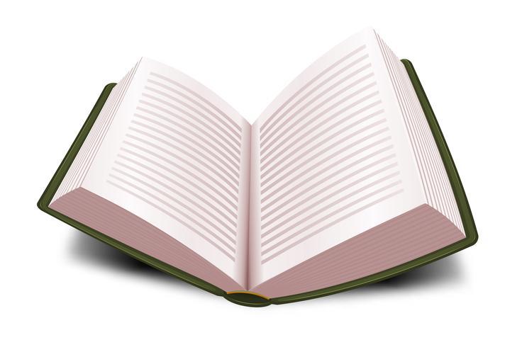 Design öppen bok med linjer vektor