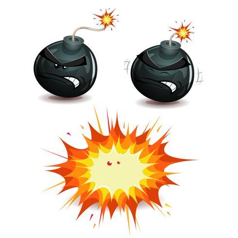 Bomb sprängning vektor