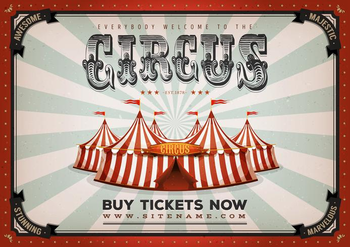 Vintage Zirkus Poster Hintergrund vektor