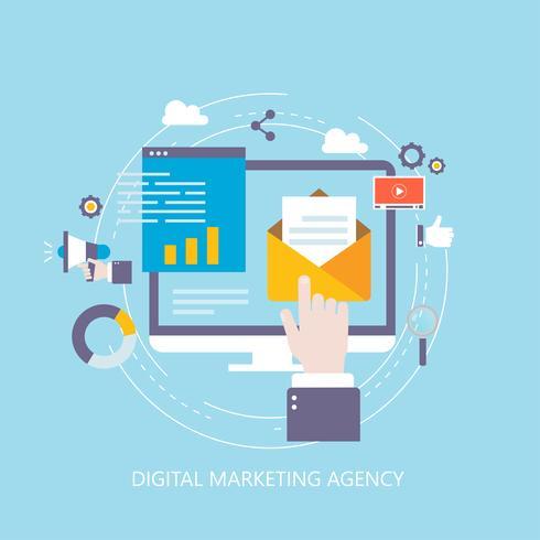 Digital marknadsföringsbyrå vektor