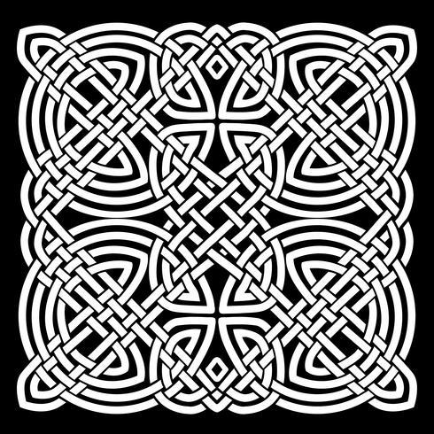 Vit och Svart Keltisk Mandala Bakgrund vektor
