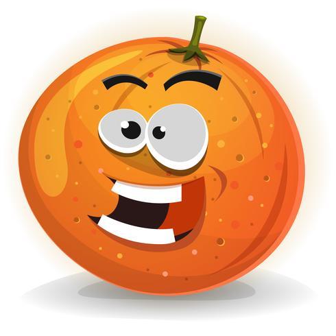 Orange Fruchtcharakter vektor
