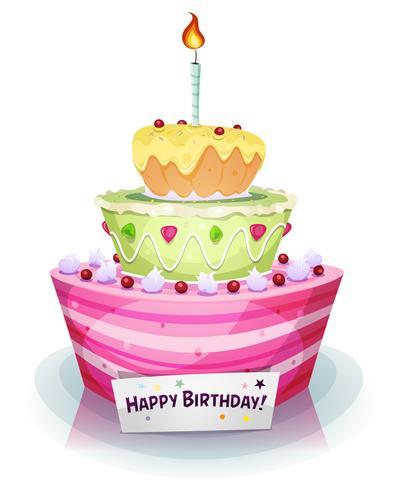 Födelsedagstårta vektor
