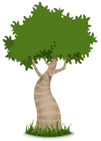 snyggt träd vektor