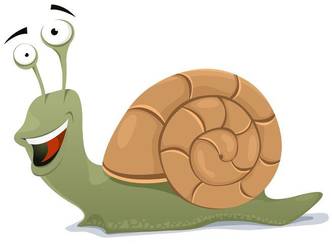 Happy Snail Charakter vektor