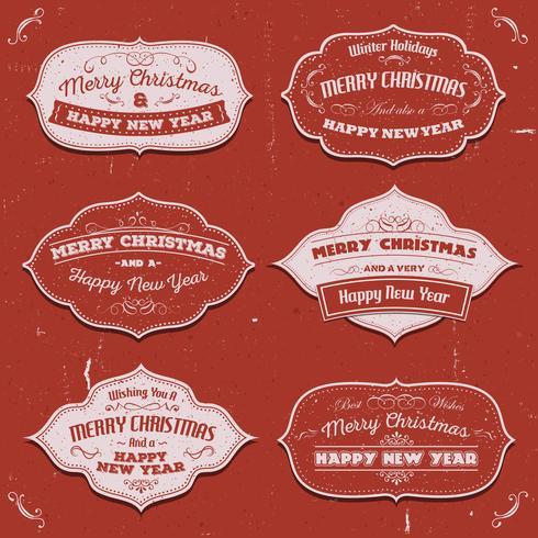 Frohe Weihnachten Banner, Abzeichen und Frames vektor