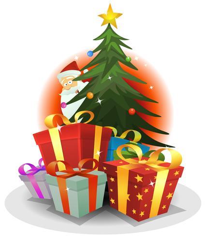 Weihnachtsmann Lieferung vektor