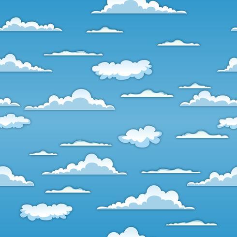 Nahtlose Wolken Hintergrund vektor