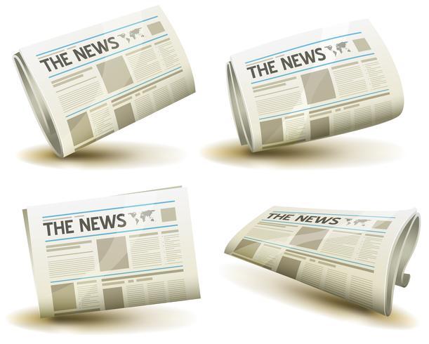 Tidningssymboler Set vektor