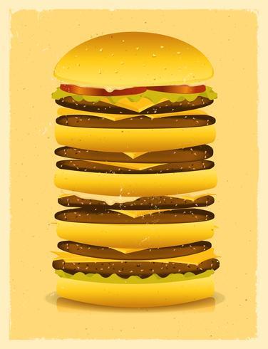 Super großer Burger vektor