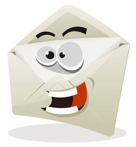 rolig email icon karaktär vektor