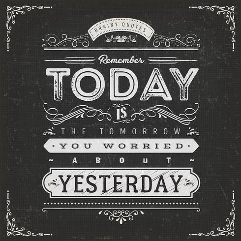 VintageCalligraphic Motivation Quote Poster vektor
