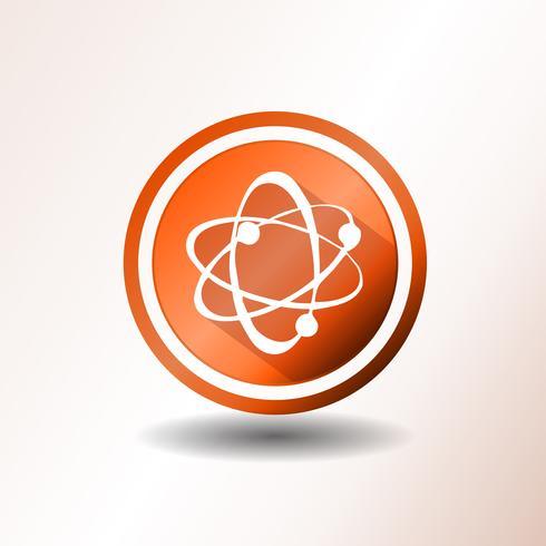Atom-Icons im flachen Design vektor