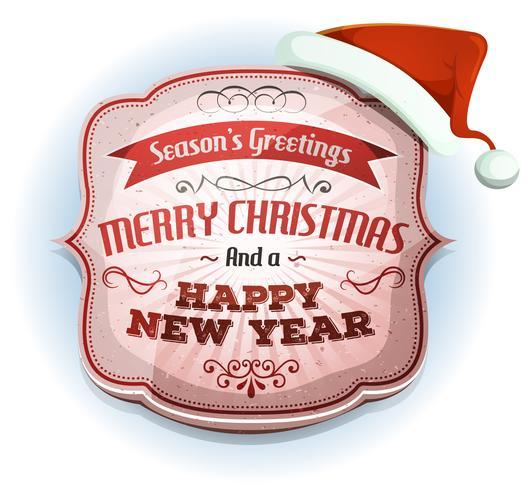 God jul och gott nytt års märke vektor