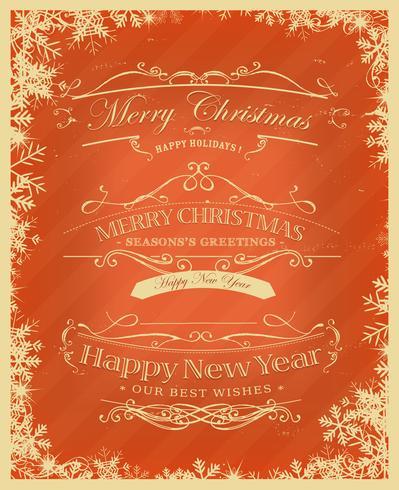 Frohe Weihnachten Retro Hintergrund vektor