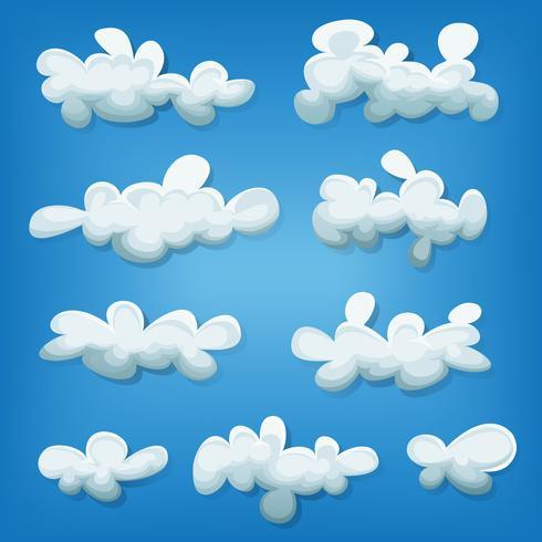 Comic-Wolken eingestellt vektor