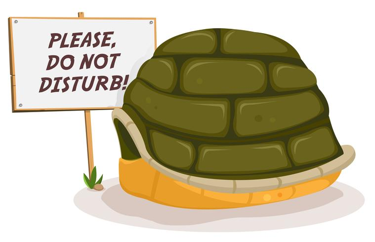 Stör inte Turtle Sleeping vektor