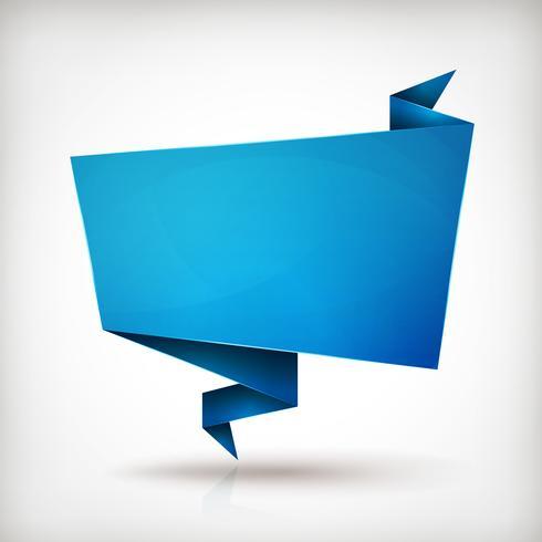 Origami-Papier-Sprechblase vektor